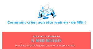 Comment créer son site web en moins de 48h !